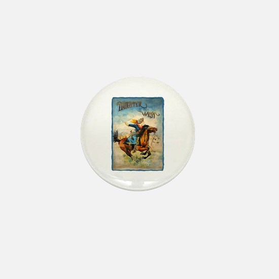 Vintage Cowgirl Roping Mini Button