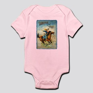 Vintage Cowgirl Roping Infant Bodysuit