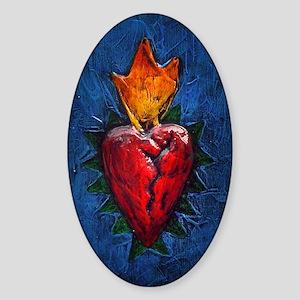 Sacred Heart 23 Oval Sticker