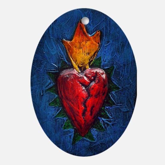 Sacred Heart 23 Oval Ornament