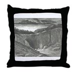 Canto 3 - Hells Entrance Throw Pillow