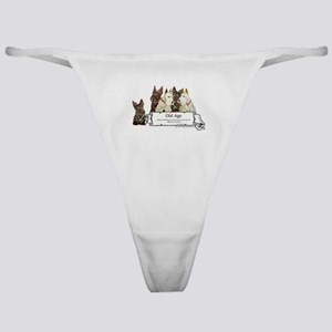 Old Age Scottish Terriers Classic Thong