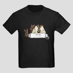 Old Age Scottish Terriers Kids Dark T-Shirt