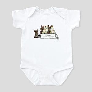 Old Age Scottish Terriers Infant Bodysuit