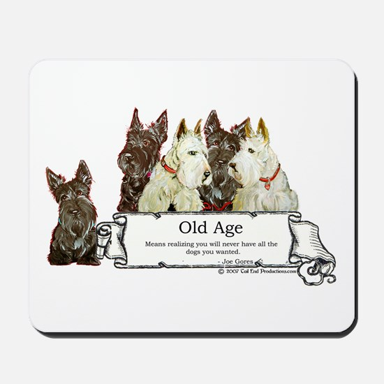 Old Age Scottish Terriers Mousepad