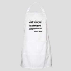 Obama We Are The Change Quote BBQ Apron