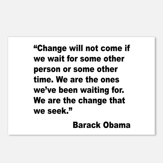 Obama We Are The Change Quote Postcards (Package o
