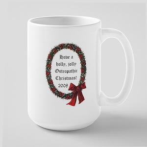 Holiday Wreath Large Mug