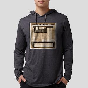 math table tan Long Sleeve T-Shirt