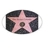 Hollywood Star Oval Sticker