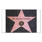 Hollywood Star Rectangle Sticker