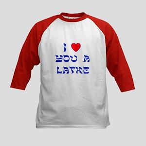 I Love You a Latke Kids Baseball Jersey