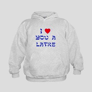 I Love You a Latke Kids Hoodie