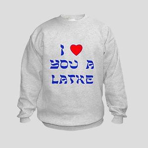 I Love You a Latke Kids Sweatshirt