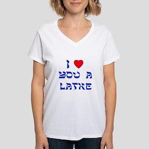 I Love You a Latke Women's V-Neck T-Shirt