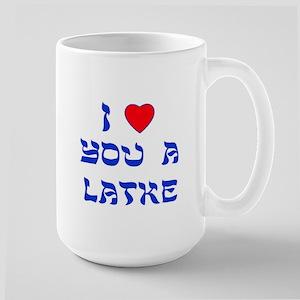 I Love You a Latke Large Mug