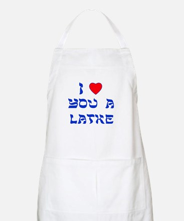 I Love You a Latke BBQ Apron