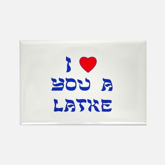 I Love You a Latke Rectangle Magnet