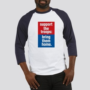 Support the troops bring them home-Baseball Jersey