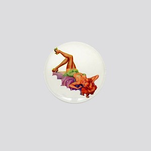 Plaything Pulp Pin Up Girl Mini Button