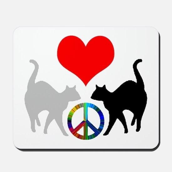 Love & peace Mousepad