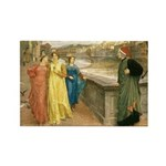Dante & Beatrice Rectangle Magnet (100 pack)