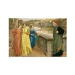 Dante & Beatrice Rectangle Magnet (10 pack)