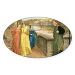 Dante & Beatrice Oval Sticker