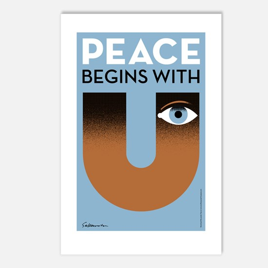 Peace begins with you Postcards (Package of 8)