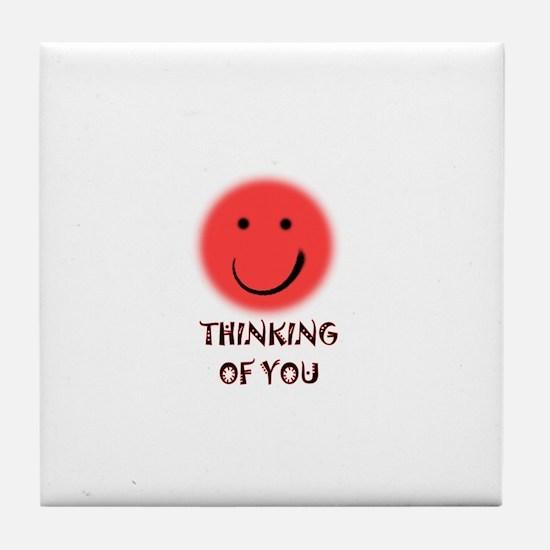 thinking of you Tile Coaster