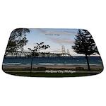 Mackinac Bridge From Mackinaw City Bathmat