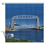 Duluth Aerial Lift Bridge Shower Curtain
