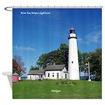 Pt. Aux Barques Lighthouse Shower Curtain
