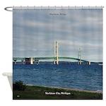 Mackinac Bridge From Mackinaw City Shower Curtain