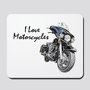 I Love Motorcycles Mousepad