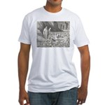Canto32- Souls in Ice Fitted T-Shirt