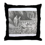 Canto32- Souls in Ice Throw Pillow