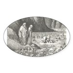 Canto32- Souls in Ice Oval Sticker