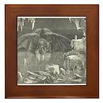 Canto 34 - Dante meets Lucife Framed Tile