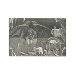 Canto 34 - Dante meets Lucife Rectangle Magnet (10