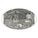 Canto 34 - Dante meets Lucife Oval Sticker