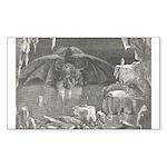 Canto 34 - Dante meets Lucife Sticker (Rectangular