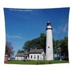 Pt. Aux Barques Lighthouse Wall Tapestry