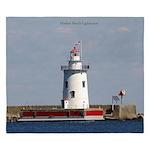 Harbor Beach Lighthouse King Duvet