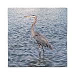 Blue Heron Water Queen Duvet