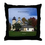 Mcgulpin Point Lighthouse Throw Pillow