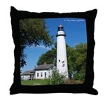 Pt. Aux Barques Lighthouse Throw Pillow