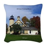 Mcgulpin Point Lighthouse Woven Throw Pillow