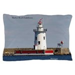 Harbor Beach Lighthouse Pillow Case