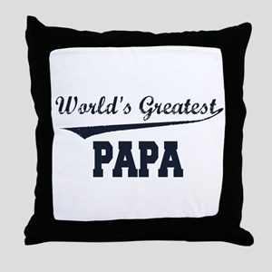 World's Greatest Papa Throw Pillow